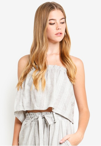Supre multi Strapless Frill Top 206B1AA73AC66DGS_1