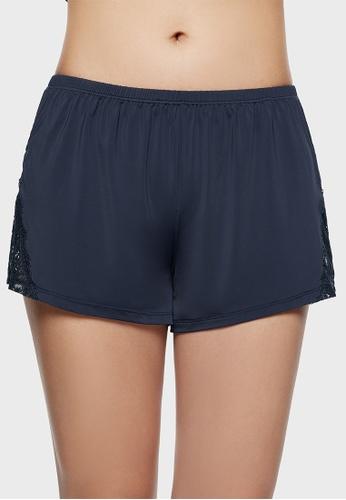 6IXTY8IGHT navy 6IXTY8IGHT NICOLE P Women's Summer Shorts Homewear Loose Breathable Soft Elastic Shorts Night Wear Thin Lace  HW09048 B6E6DAA3918827GS_1