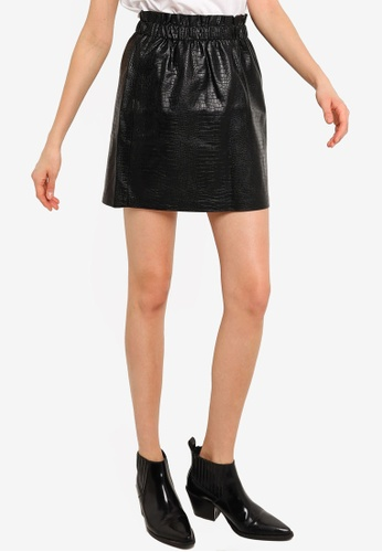ONLY black Coco Faux Leather Skirt F87C7AA7C53601GS_1