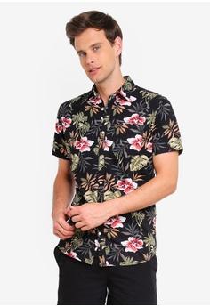 d5d4bacac Jack   Jones black Jack Floral Print Short Sleeve Shirt D011CAA78B3D99GS 1