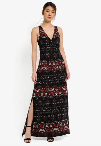Something Borrowed black Sleeveless High Slit Maxi Dress B6970AA382B8E4GS_1