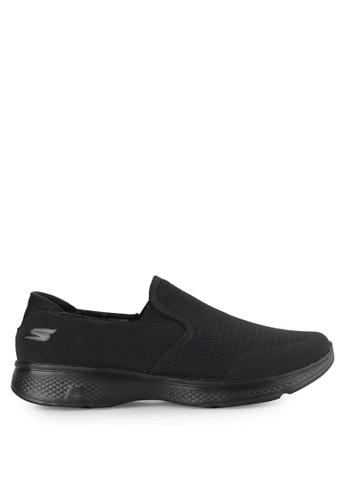 Skechers black Ske Go Walk 4 Mens SK173SH0UCO9ID_1