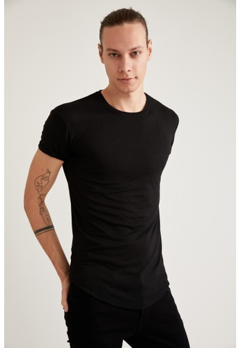 DeFacto black Short Sleeve Round Neck Basic T-Shirt D4A36AA2E17438GS_1