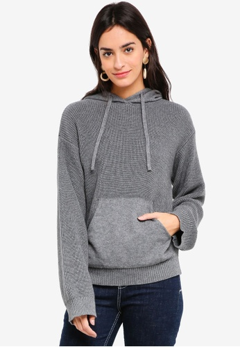 United Colors of Benetton grey Knitted Hoodie 307BEAA8AF041FGS_1