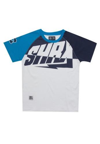 SHARKS blue Typo Series Tshirt 6E524KAFDFF509GS_1
