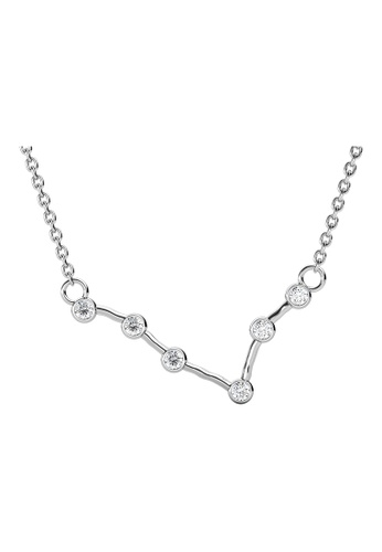 Her Jewellery silver 12 Horoscope Stars Pendant (Pisces) White Gold - Made with premium grade crystals from Austria A81CFAC30EB327GS_1