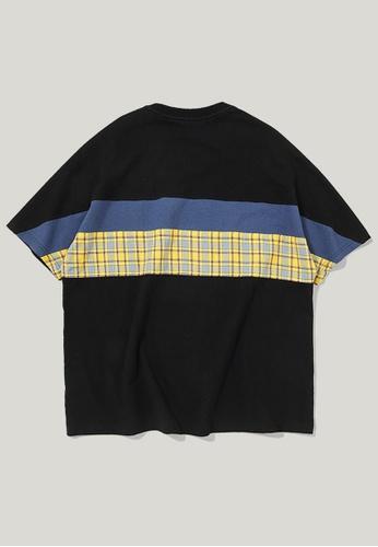 Twenty Eight Shoes Oversize Patchwork Short T-shirt 91105S D32D3AAAC73118GS_1