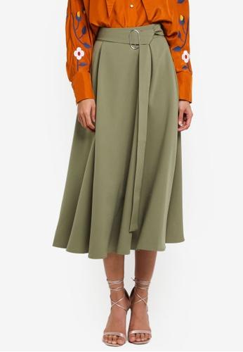 Haute Kelly green Bit-Na Skirt 4FEDAAA7B8B6D6GS_1
