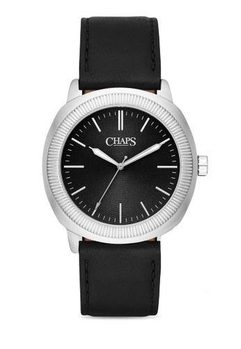 Chaps black Chaps Calhoun Black Leather Watch CHP5046 CH325AC11LVOMY_1