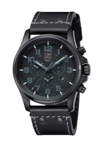 Luminox black Luminox Atacama Field Chrono Blackout Leather Watch 7D1A3AC3BAC868GS_1