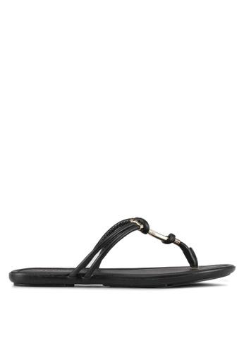 ALDO black Kederravia Flat Sandals 47A1FSH7E99FB5GS_1