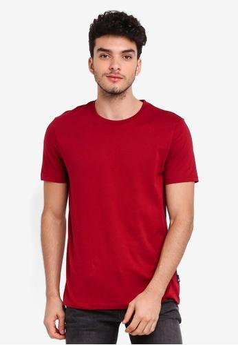 Burton Menswear London 紅色 Biking Red Crew Neck T-Shirt DD76EAA7B8D3A7GS_1