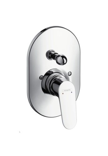 Hansgrohe silver Hansgrohe Focus E2 Finish Set for Concealed Bath/Shower Mixer & Basic Part for Concealed Mixers 15DF6HL21BC56DGS_1