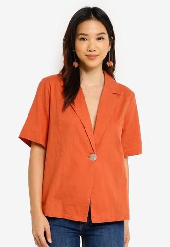 Charlie Holiday orange Tulum Shirt D715EAA9DE0E5DGS_1