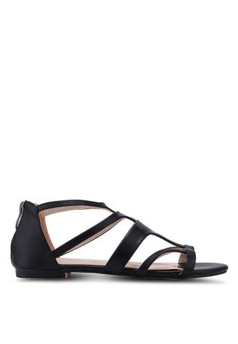 ZALORA black Gladiator Sandals 4B0B5SHEB68167GS_1