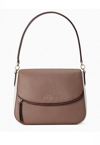 Kate Spade beige KATE SPADE Jackson Colorblock Medium Flap Shoulder Bag C008EAC0805F7FGS_1