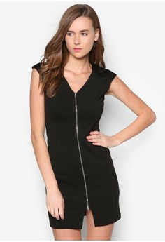 Collection Panelled Zipped Dress