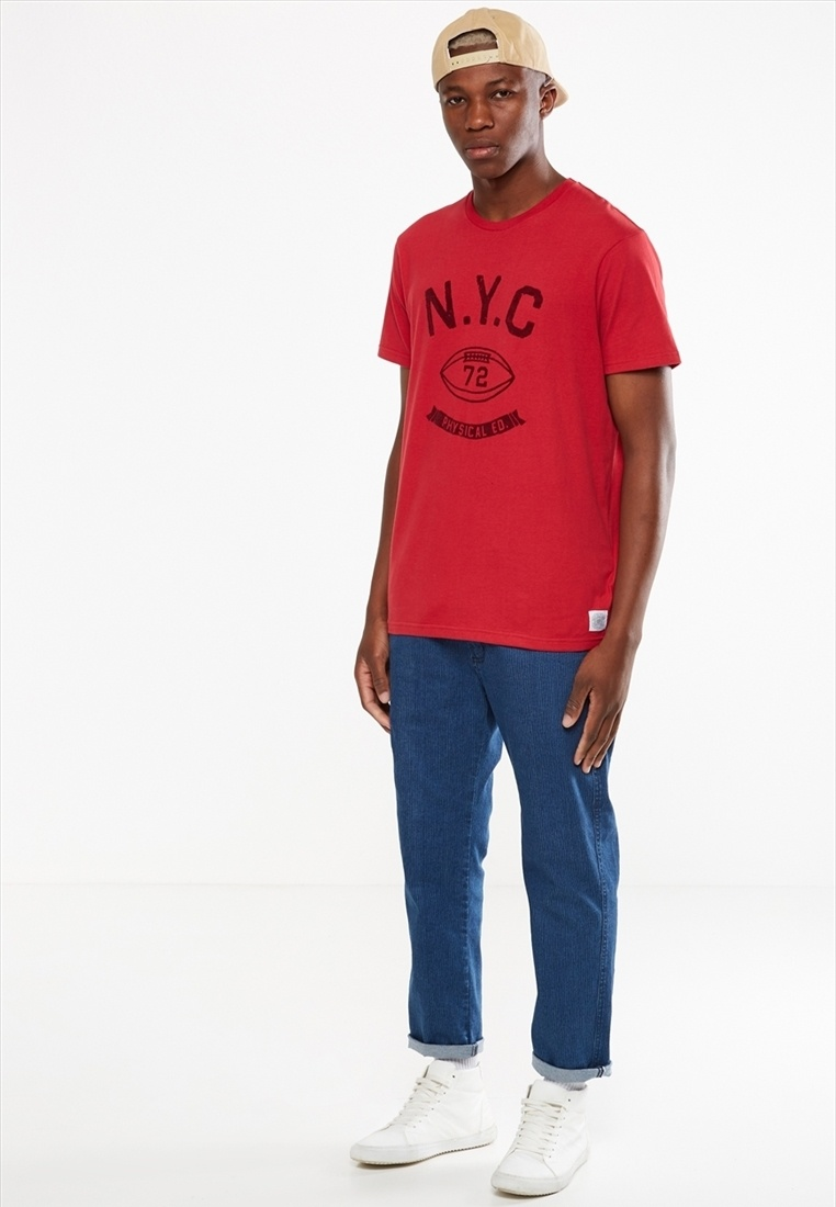 Red 2 Cotton Tbar Tee On If5nxCwnFq