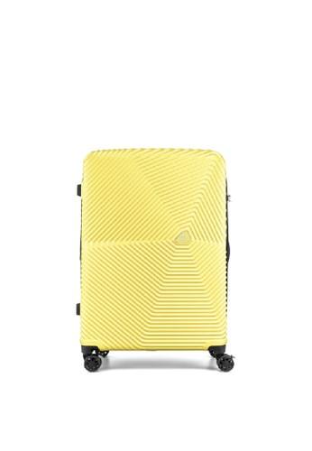 American Tourister yellow Kamiliant by American Tourister Kami 360 Koper HardcaseLarge/ 29inch EXP TSA Double Zipper - Pastel Yellow D0606AC9904FFDGS_1