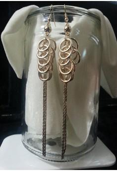 gold long dungling earring