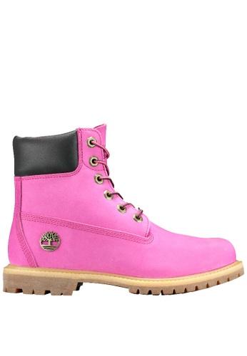 """Timberland pink 6"""" Premium Waterproof Boot TI324SH2UWC1HK_1"""