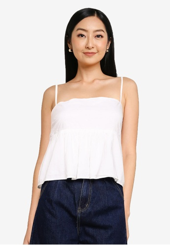 Abercrombie & Fitch white Square Neck Trapeze Cami 3BE58AA21FB368GS_1