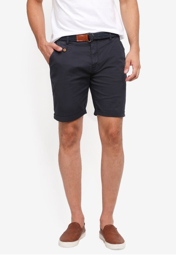 Indicode Jeans navy Conor Shorts With Belt A41ECAA3C40DB1GS_1