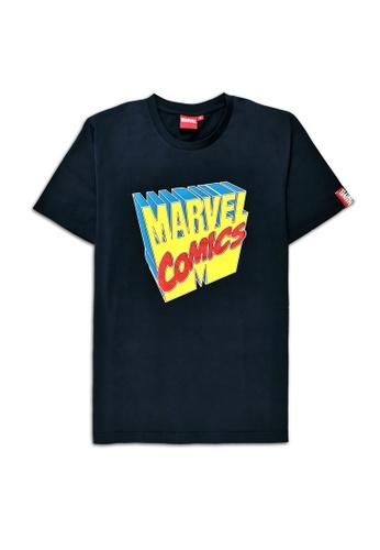 MARVEL navy Marvel Genuine Men Avengers Short Sleeve T Shirt Navy VIM20721 3C125AAA23E88FGS_1