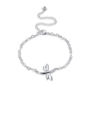 Glamorousky silver Simple and Fashion Dragonfly Anklet E2CB9AC44CF1D2GS_1
