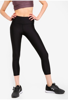 7d53ab1fc83b2b Under Armour black UA HG Armour Ankle Crop Branded Capris D9013AA08CDB4CGS_1