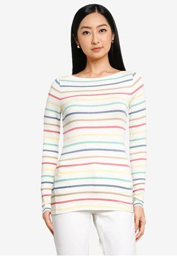 Gap multi Long Sleeve Striped T-Shirt 9CC82AA00DCC59GS_1