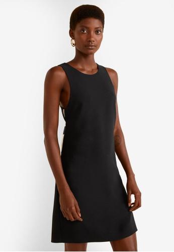 Mango black Print Bow Dress DD0F3AA918249CGS_1