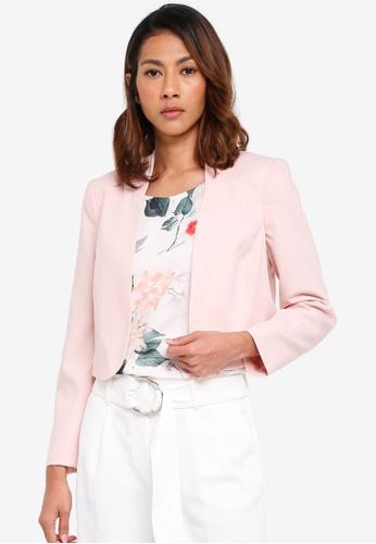 Wallis pink Petite Blush Cropped Blazer 5F5ACAA152E438GS_1