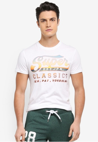 Superdry white CLASSICS LITE WEIGHT TEE DC237AA4FF3428GS_1