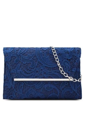 海軍藍 蕾絲 Chain Clutch Bag、 包、 包DorothyPerkins海軍藍蕾絲ChainClutchBag最新折價