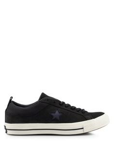 6167c90b796 Converse black One Star SP Sierra Ox Sneakers 34462SH40018E7GS_1