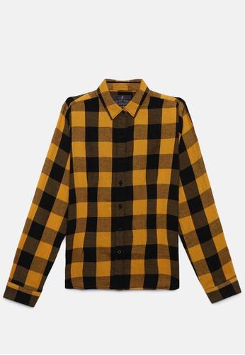 ZALZA black and yellow 100% Organic Cotton Gashi Girls Fashion Top - Yellow/Black D8B07KA555C07EGS_1