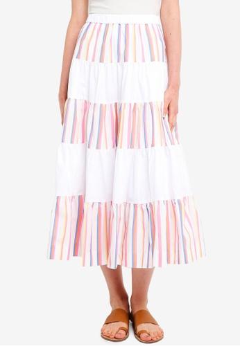 J.Crew multi French Creek Mixy Stripe Skirt 8CA4BAA150A4E3GS_1