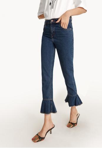 Pomelo navy Cropped Flared Hem Jeans 1D0EEAA998B85DGS_1