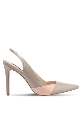 ZALORA beige Double Color Detail Heels 33EC7SH9BE9DA0GS_1