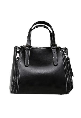 Twenty Eight Shoes black VANSA Burnished Cow Leather Hand Bag VBW-Hb6322 BA1EBAC8AFB0B2GS_1