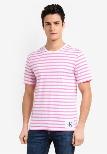 Calvin Klein multi A-Testripe Short Sleeve Crew Neck Tee - Calvin Klein Jeans 5566CAA66C7F8DGS_1