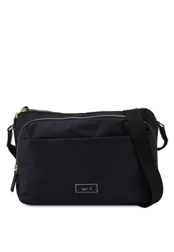 agnès b. black Shoulder Sling Bag A1A9CACD034C74GS_1