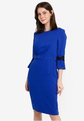 Paper Dolls blue Cobalt Pleat Dress F57E3AAC2D07E4GS_1