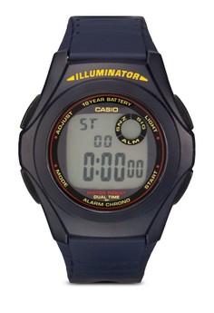 Image of Casio Blue Resin Quartz Digital Watch