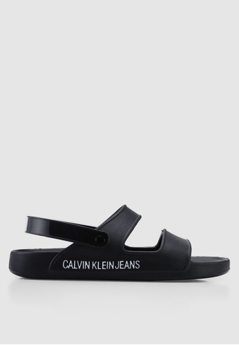 Calvin Klein black Patton Sandals F006FSH1750675GS_1