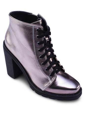 Lazalora時尚購物網的koumi koumice Up Block Heels Boots, 女鞋, 靴子