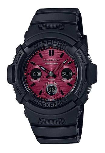 Casio black Casio G-Shock AWR-M100SAR-1ADR Red and Black Resin Watch 83FA1ACB4CFB17GS_1