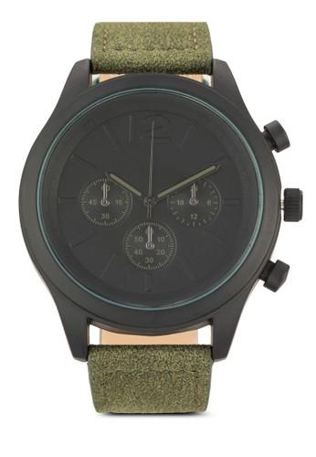 三指針仿皮圓錶, 錶類, esprit mongkok飾品配件