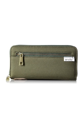 Anello brown [ANERO]Official Poly Canvas Simple-style Long Wallet AT-B0199-KH Khaki 9E682AC3BEEA61GS_1